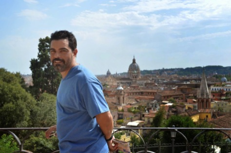 My handsome husband in Rome